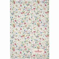 GreenGate Tea Towel Vivianne White