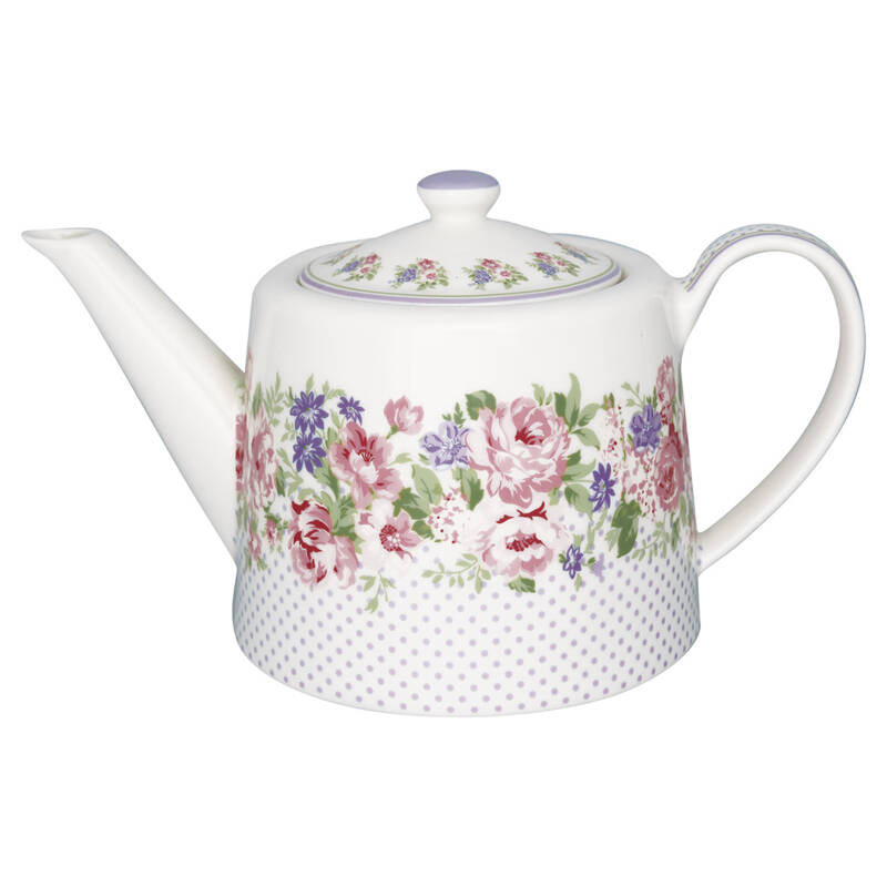 GreenGate Teapot Rose White