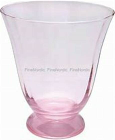 GreenGate Water Glass Round Foot Pink