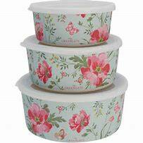 GreenGate bamboo meadow pale blue set of 3