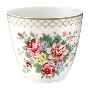 GreenGate Latte Cup Aurelia white.