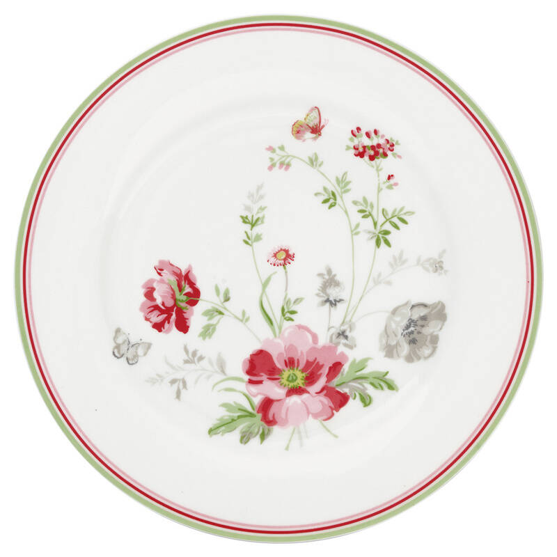 GreenGate Plate 20 cm Meadow White