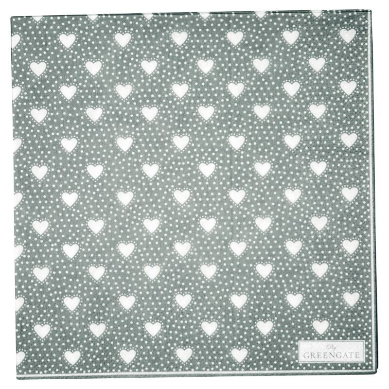 GreenGate Paper Napkins Penny Grey Large 20 pcs