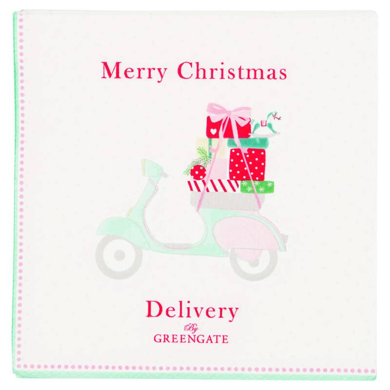GreenGate Paper Napkins Scooter White Small 20 pcs