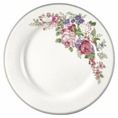 Greengate Dinerbord Rose wit