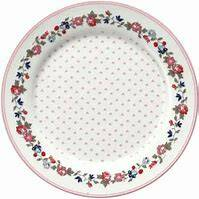 GreenGate Kids Plate 20 cm Ruby Petit White