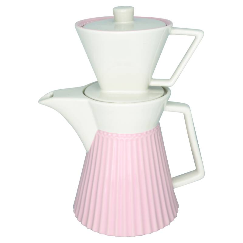 GreenGate Coffee Pot with Filter Alice Pale Pink