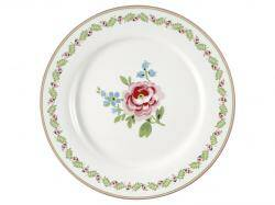 Greengate Dinner plate Lily petit white