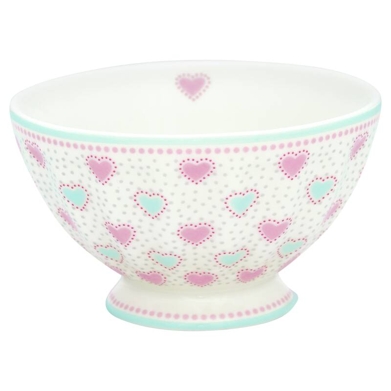 GreenGate French Bowl Medium Penny White