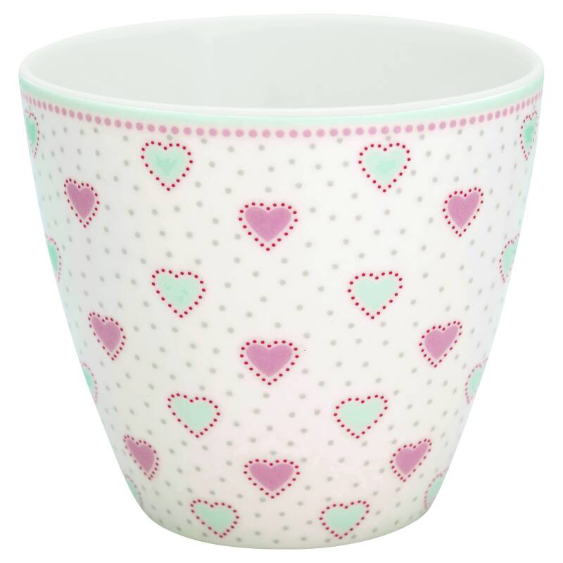 GreenGate Latte Cup Penny White