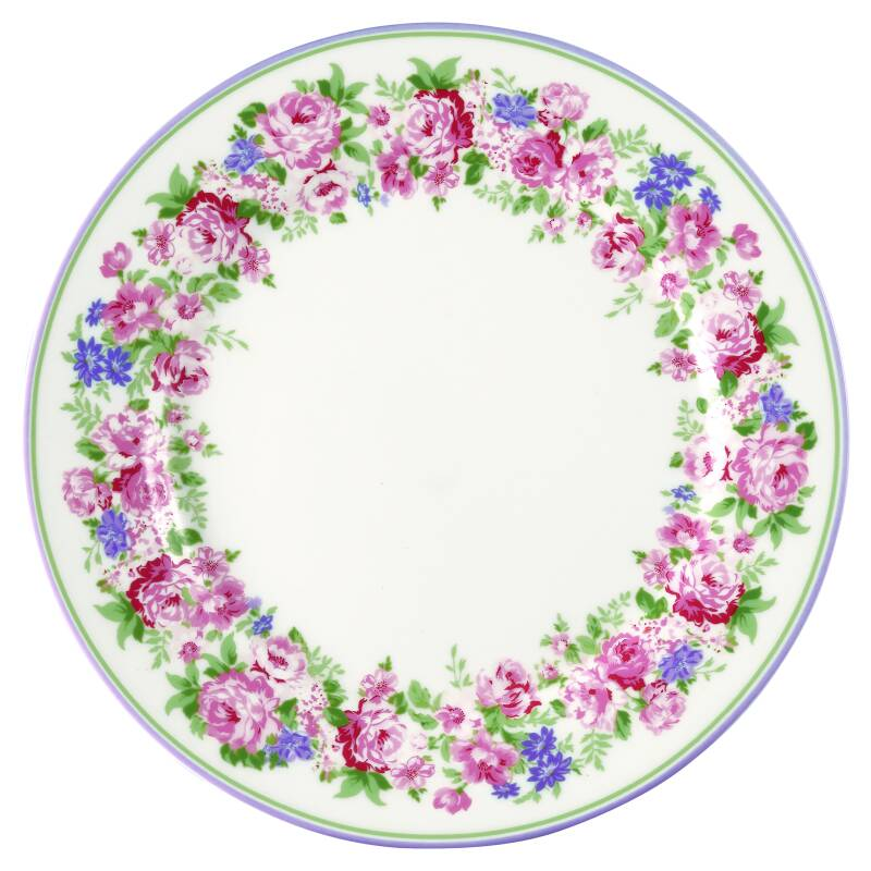 GreenGate Plate Rose White 20 cm