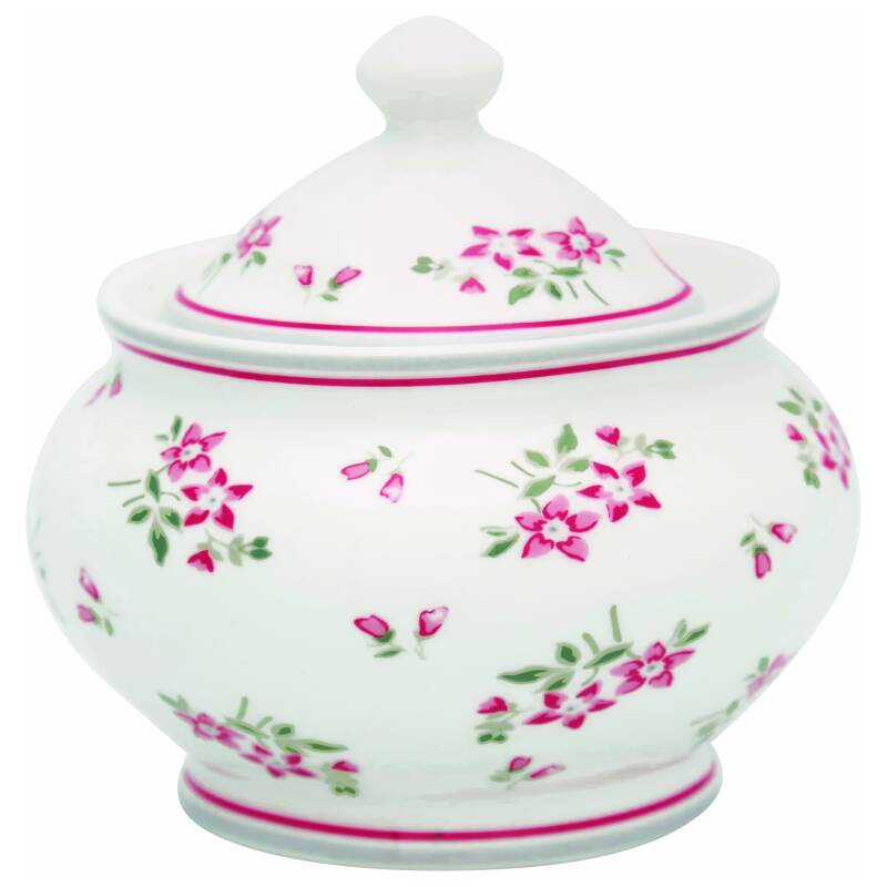 GreenGate Sugar Pot Round Avery White