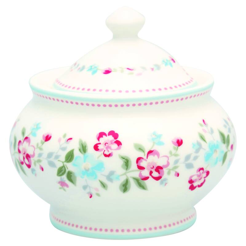 GreenGate Sugar Pot Round Sonia White