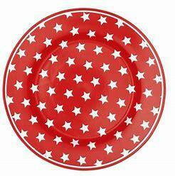 GreenGate Plate Star Red 20 cm