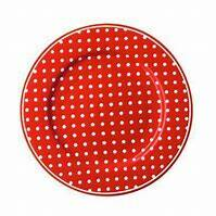 GreenGate Small Plate 15 cm Dot Red