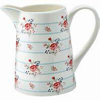 Greengate Jug Fiona pale blue 1L