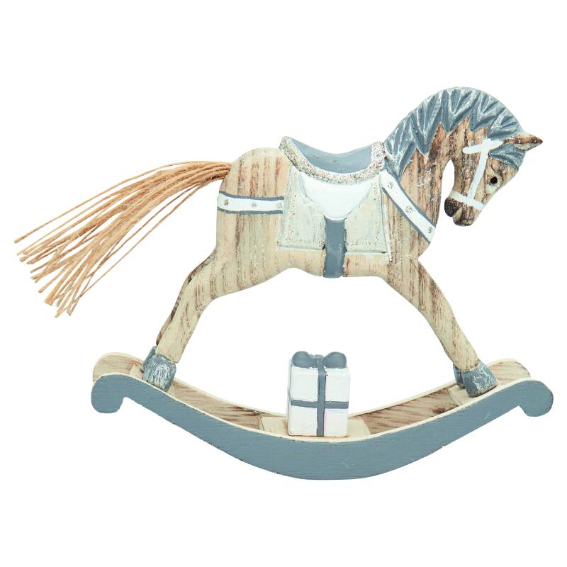 GreenGate Decoration Rocking Horse Grey Medium