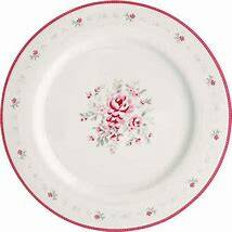 Greengate dinner plate camille white