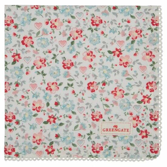 GREENGATE NAPKIN MERLA WIT 40X40CM LIMITED EDITION