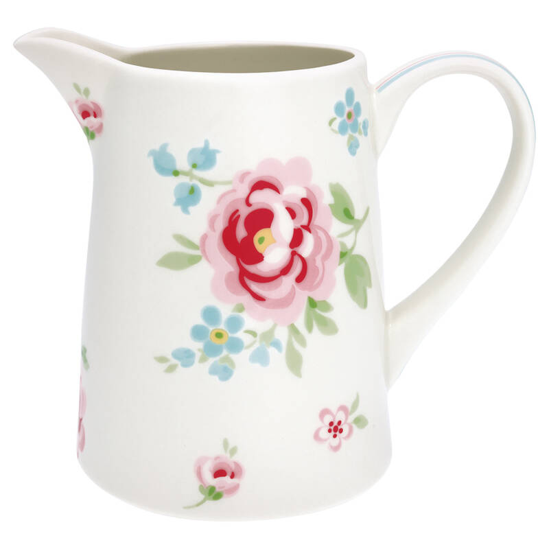 GreenGate jug meryl white