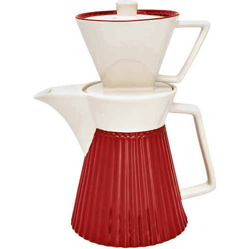 GreenGate Coffee Pot with Filter Alice Red
