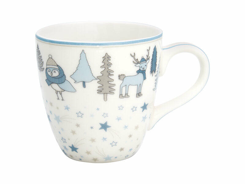 GreenGate Kids Mug Forrest Pale Blue