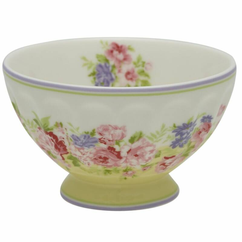 GreenGate French Bowl Medium Rose Pale Yellow