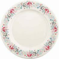 Greengate Dinner plate mary pale grey