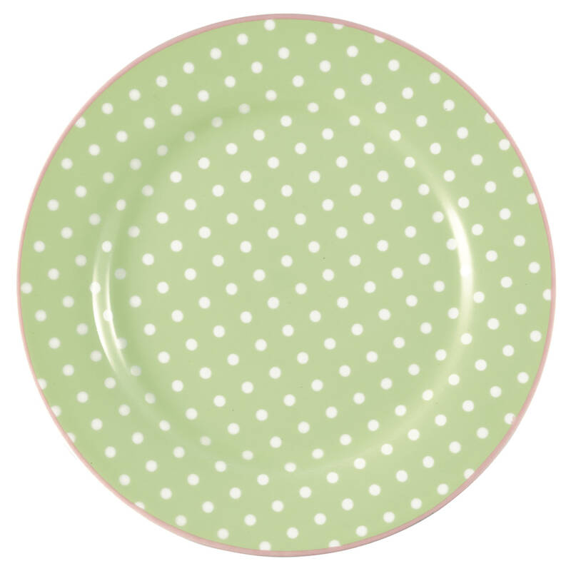 GreenGate Plate 20 cm Spot Pale Green