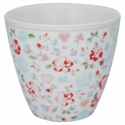 GREENGATE LATTE CUP MERLA WHITE LIMITED EDITION