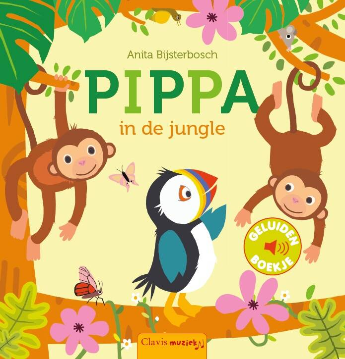 Geluidenboek. Pippa in de jungle