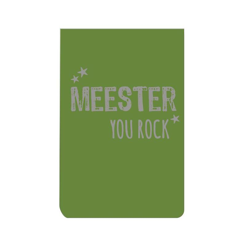 Notitieblok. Meester you rock