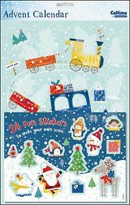 Kerst trein sticker advent kalender