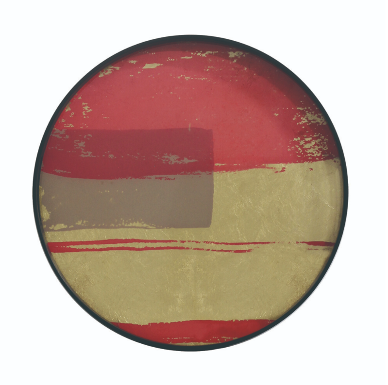 Plateaus - Ethnicraft - Raspberry Abstract glass tray S