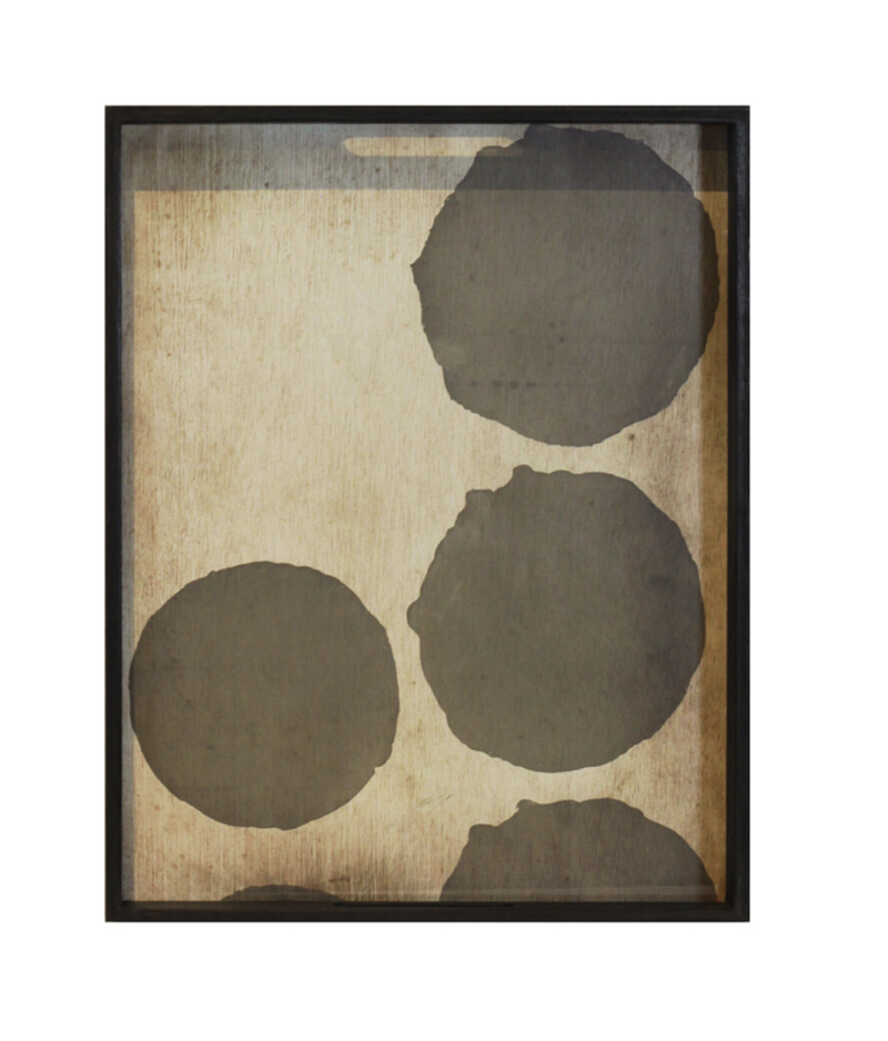 Plateaus - Ethnicraft - Silver Dots glass tray M