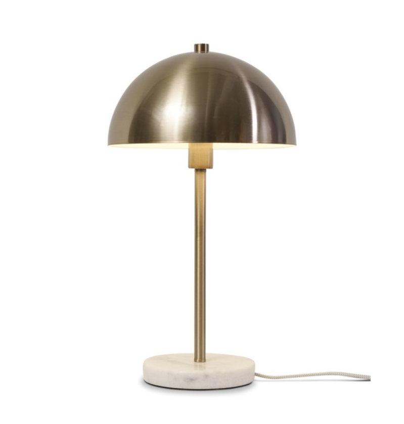 Tafellamp - Iron/marble Toulouse white/gold