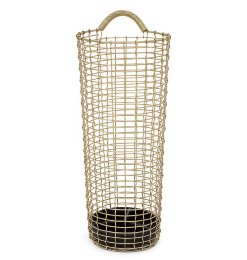 Paraplu bak - Umbrella Bin Handwoven - BRASS  - Korbo