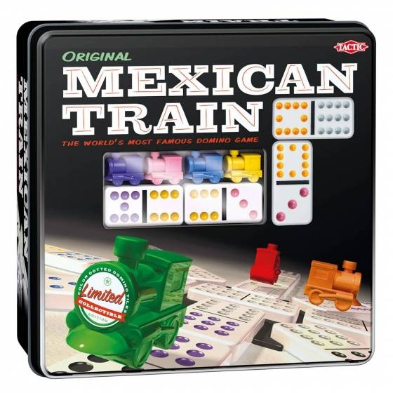Mexican Train in Tin Box  Domino spel