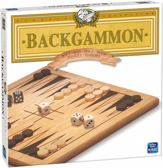 Backgammon hout strategiespel