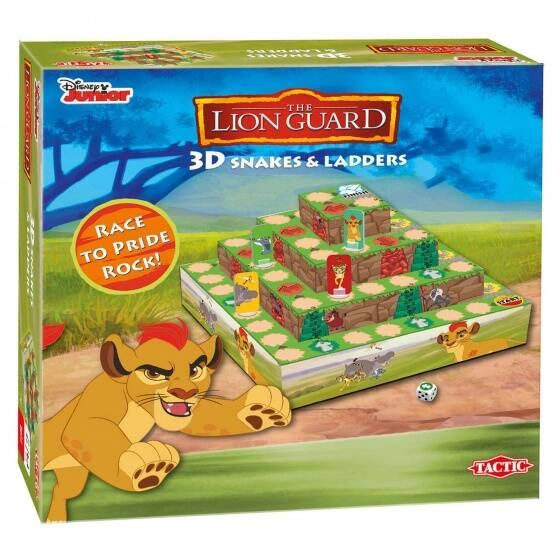 Tactic bordspel Lion Guard 3D Snakes & Ladders Game