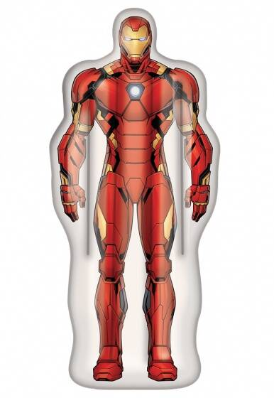 Happy People luchtbed Marvel Iron-Man 175 x 73 cm rood