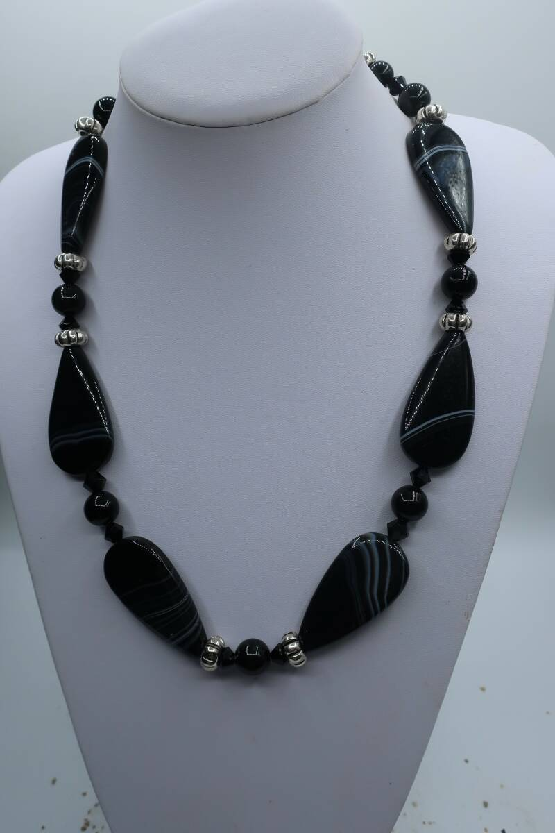 Collier Striped Agaat