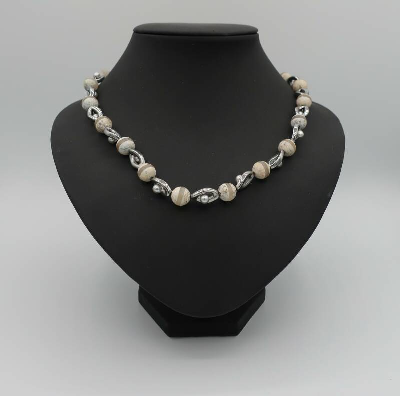 Collier Hematite Happiness