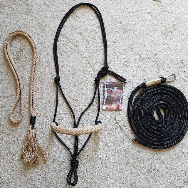 Simpel touwhalster + neckrope + leadrope