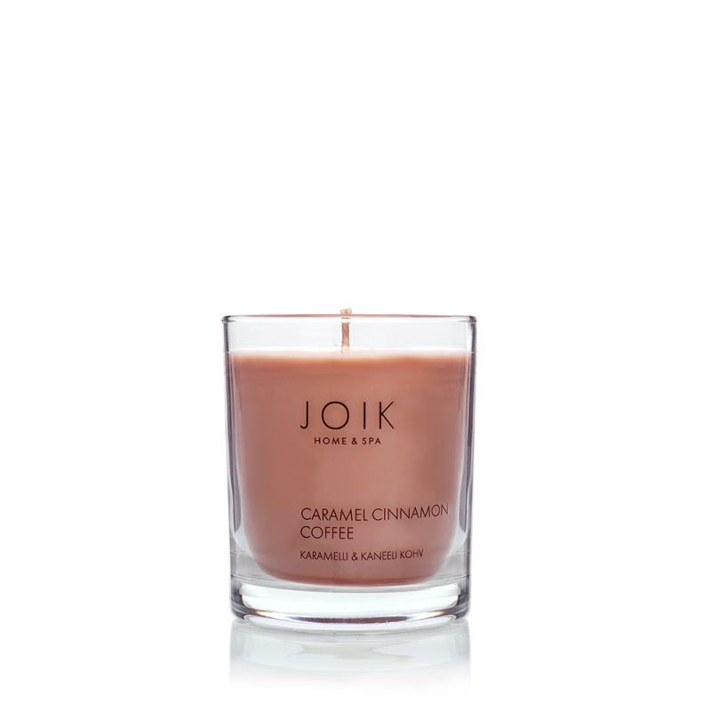 Joik Home & spa -  Vegan Soywax scented candle Caramel & Cinnamon Coffee, 145 gr.
