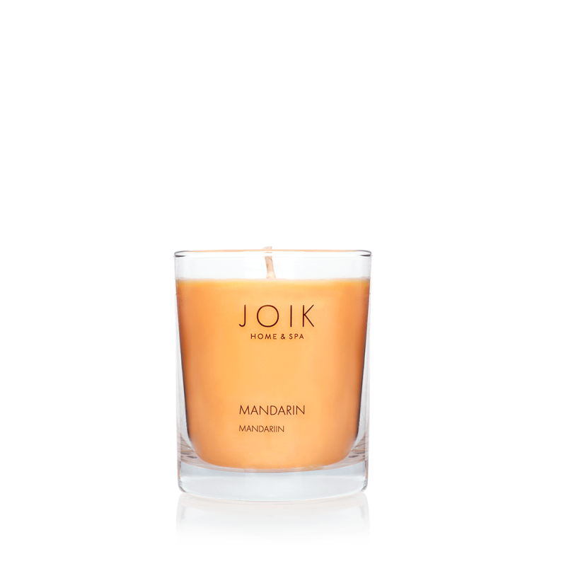 Joik Home & Spa -  Vegan Soywax scented candle Mandarin, 145 gr.