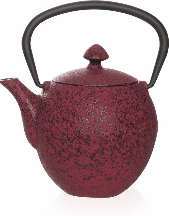 Cosy&Trendy Pear Theepot - 0.33 l - Gietijzer - Donkerrood, 163036