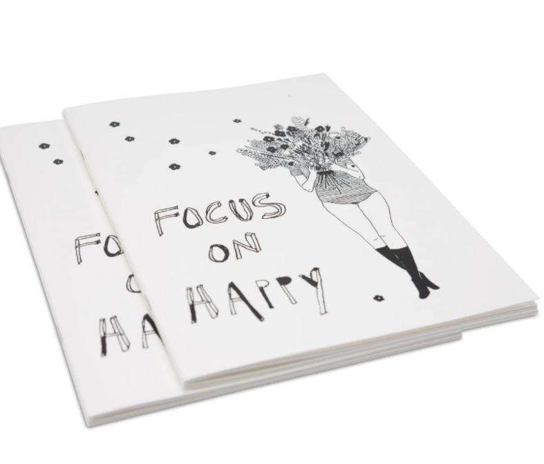 Notebook Focus on happy-Flower girl