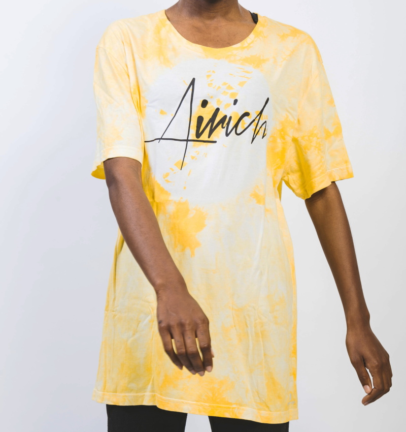 YELLOW T-SHIRT (TIE-DYE)
