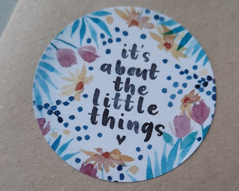 "sticker ""it's about the little things"""